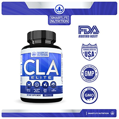 CLA-1000mg-Weight-Loss-Supplement-Best-All-Natural-100-Safflower-Oil-Belly-Fat-Burner-CLA-Pills-for-Men-and-Women-by-SmartLife-Conjugated-Linoleic-Acid-Non-GMO-Stimulant-Free-120-Softgels