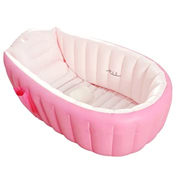 Amazon.com : Baby Bath Tub Inflatable Large Capacity Plastic Air ...