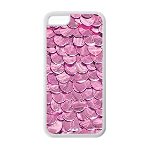 5C Phone Cases, Pink Mermaid Skin Hard TPU Rubber Cover Case for iPhone 5C