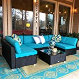 Peach Tree 7 pieces Sofa Set gives you more chances to enjoy leisure time with friends and family. The modern design fits perfectly with any outdoor or indoor decor. In addition, each piece of furniture is independent, so it can be rearranged based o...