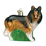 Old World Christmas Collie Glass Blown Ornament