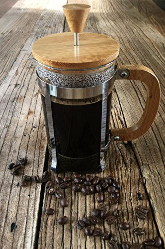 Starizzo French Press Coffee Maker For Home & Work, Travel, Camping, Tea, Cold Brew | Stylish Bamboo, BONUS Measuring Spoon, Compact Size 20oz | 600ml by Starizzo (Image #1)
