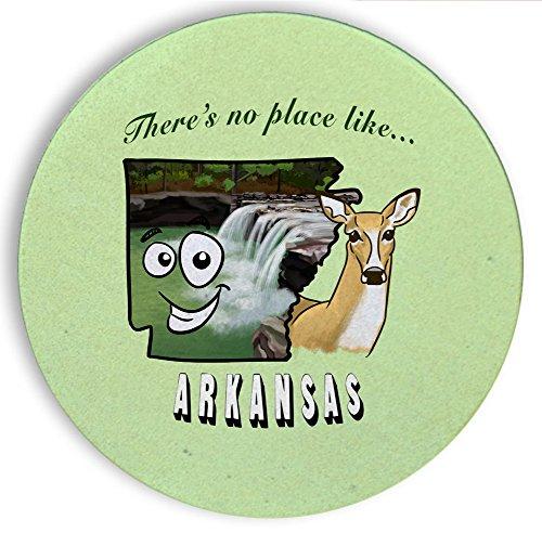 Ceramic Stone Coaster Coasters Set of Four - There's No Place Like Arkansas ()
