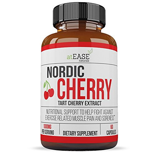500 Tennis Elbow Support (Tart Cherry Capsules Extract Ultra Concentrate Nordic Cherry - Natural Remedy for Anti Inflammation and Ease of Rheumatoid Arthritis, Uric Acid, Joint Pain, Inflammation and Soreness - 1000mg)