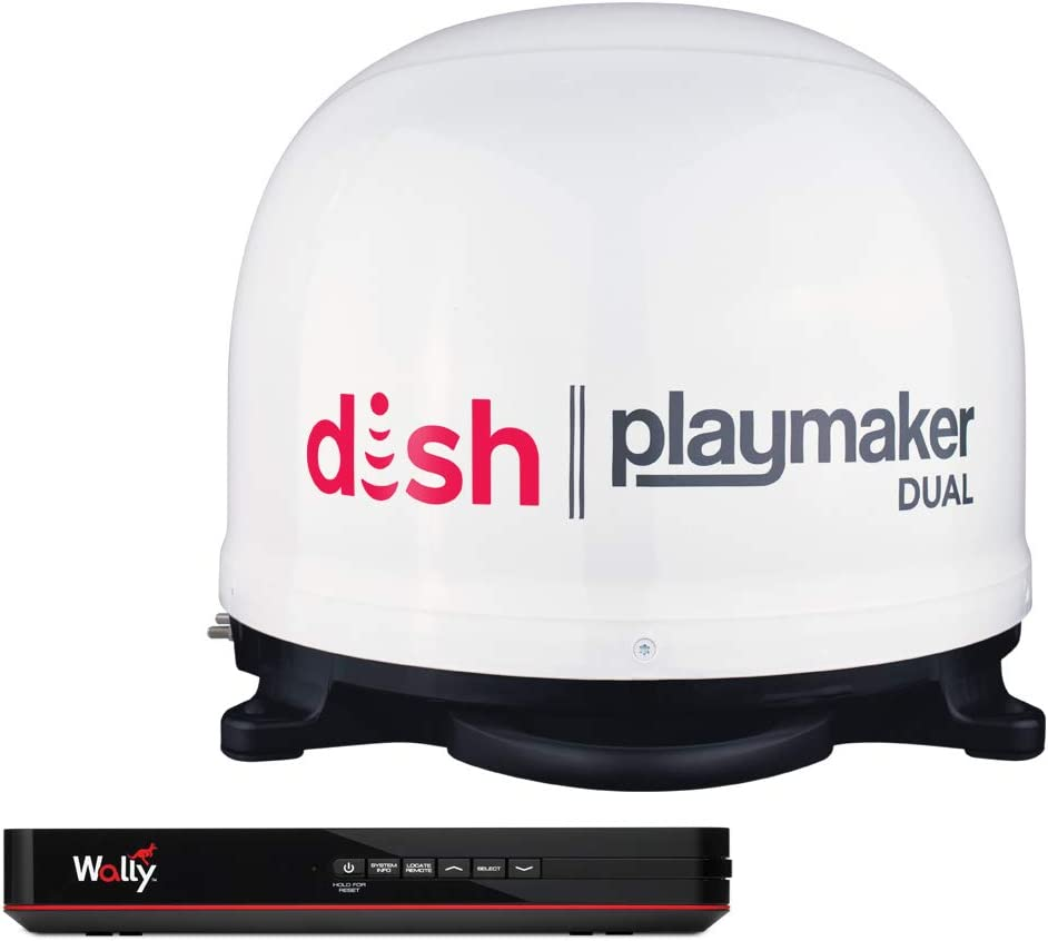 Winegard Dish Playmaker Dual Portable Automatic Satellite Antenna with Dish Wally HD Receiver: Automotive