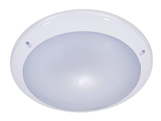 ZEYUN LED Luz redonda del tabique hermético con detector de movimiento invisible, luz de techo