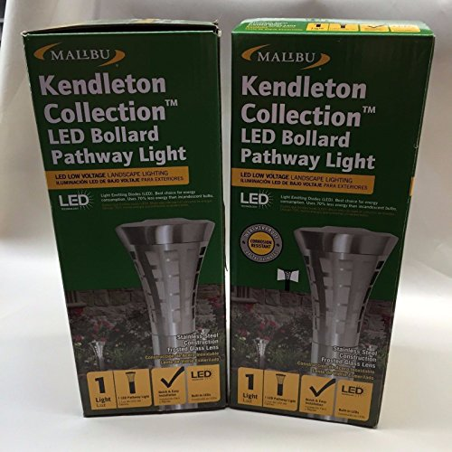 (Ship from USA) 2-Malibu Kendleton Collection Led Bollard Pathway Light 84504322 01 Brand New /ITEM NO#8Y-IFW81854186030