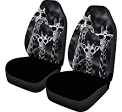 Showudesigns Customize Car Seat Covers Front Seat Only 2pcs Set Soft Comfortable Winter Warm Driver Seat Cover Custom Pattern Fit Most Car