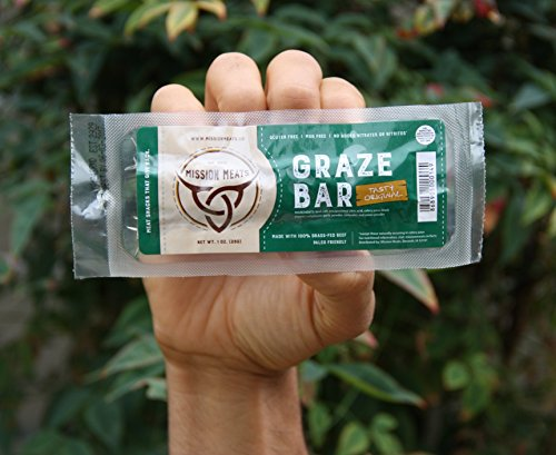NEW TASTY non-GMO Grass-Fed Beef Bars NO SUGAR MSG Free Gluten Free Nitrate/Nitrite Free Paleo Friendly and epic bars (Tasty Original, 6)