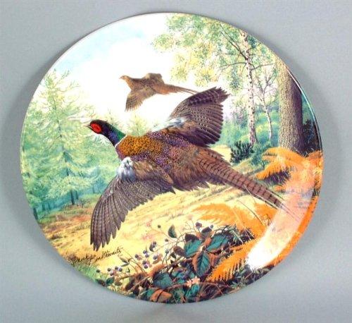 Braithwaite Game Bird Collection plate - Pheasants in Flight