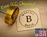 Personalized Text Custom Branding Iron (2.0'' Round Text w/Ring)