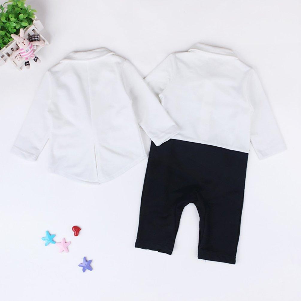 Blazer Anzug Mantel YOUJIA 2pcs Baby-Jungen Bekleidung Set Taufe Smoking Gentleman Striped Strampler