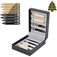 Luxsego 8 Power Collar Stays in Luxury Storage, Adjustable Stainless Steel Collar Stays for Business Casual Dress, Perfect for Party, Meeting, Negotiation