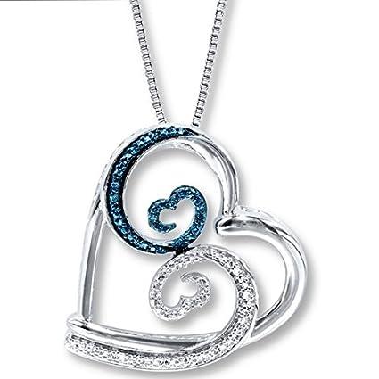 Amazon jane seymour open hearts necklace blue waves home kitchen jane seymour open hearts necklace blue waves aloadofball Images