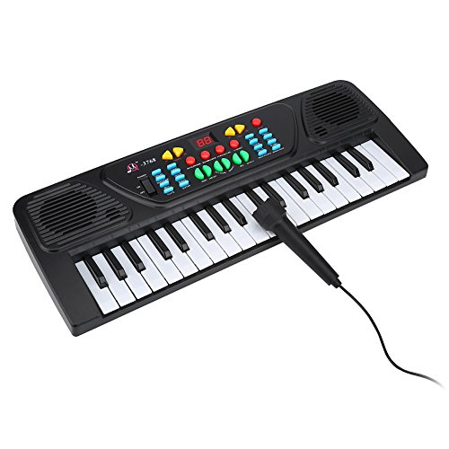 Electric Keyboard, 37 Keys Musical Teaching Keys Piano Toy with Microphone for Children and Kids