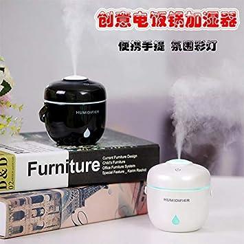 230ml USB Ultrasonic [Mini Rice Cooker] Mist Air Humidifier +1 Aromatherapy Oil