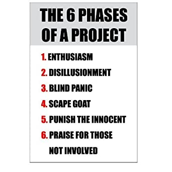 Amazon.com: THE 6 PHASES OF A PROJECT......... JOKE Sign by UK ...