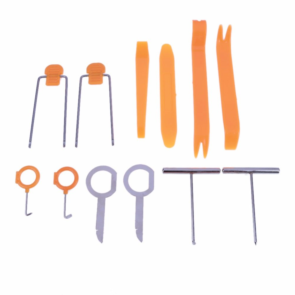 UTP 12pcs/Set Professional Tools for Cars Auto Vehicle Dash Trim Tool Car Door Panel Audio Remove Install Pry Set Repair Instruments