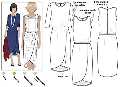 Style Arc Sewing Pattern - Click for Other Sizes Available Sizes 04-16 Olivia Dress