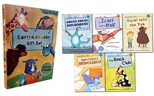 Early Readers Story Collection 5 Books Box Set Childrens Gift Pack Read At HomeYuck Said The Yak, A Scarf And A Half, Preposterous Rhinoceros, The Black And White Club, Hocus Pocus Diplodocus