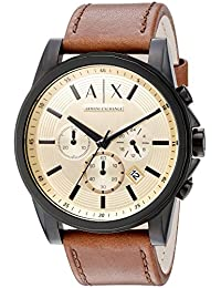 Armani Exchange Men's AX2511 Brown  Leather Watch