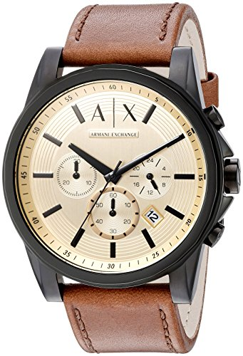 Armani-Exchange-Mens-AX2511-Brown-Leather-Watch