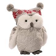 """Gund Christmas Twinkles Snow Owl Plush, 9""""/Medium"""