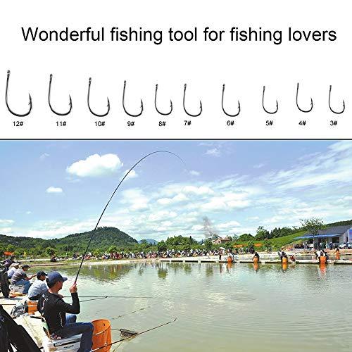 Plata Freeday-uk 1 Juego 100 Piezas 10 tama/ños 3# 12# anzuelos de Pesca de Plata Negra con Caja de Transporte