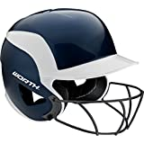 Worth 70 MPH Legit Fastpitch Batting Helmet with High Visibility Wire Guard