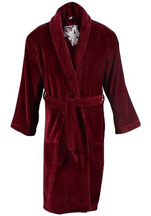 Mens Baron 100% Egyptian Cotton Plush Shawl Collar Luxury Bathrobe - 4XL  Burgundy 9068f5fb2