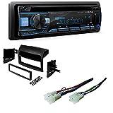 Alpine CDE-172BT, CD Player Car Stereo, Bluetooth, USB/Aux with Toyota Sienna Single Din Car Radio Stereo Installation Dash Kit Wiring Harness