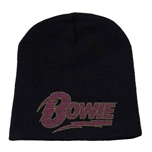 Logo nuevo negro Oficial de sane alladin Beanie Bowie Flash Sombrero Cap David WaYwq4Hz