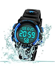 Kid Watch for Boy Girl Child Multi Function Digital LED Sport 50M Waterproof Electronic Analog Quartz Watches Gift Black Blue