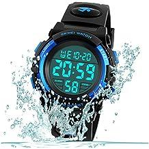 Kid Watch for Boy Girl Child Multi Function Digital LED Sport 50M Waterproof Electronic Analog Quartz Watches Gift Black Blue