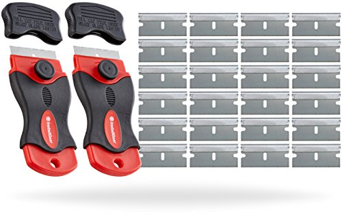 (InstallGear Mini Razor Scraper with 24 Blades (2 Pack))