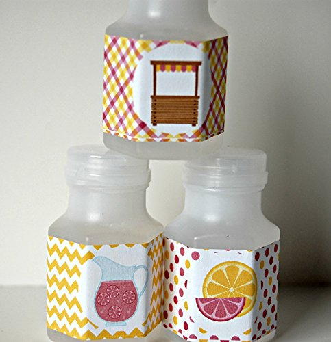 Pink Lemonade Party Bubbles, Party Favor Bubbles,Lemonade Stand Party Favor (set of 12)