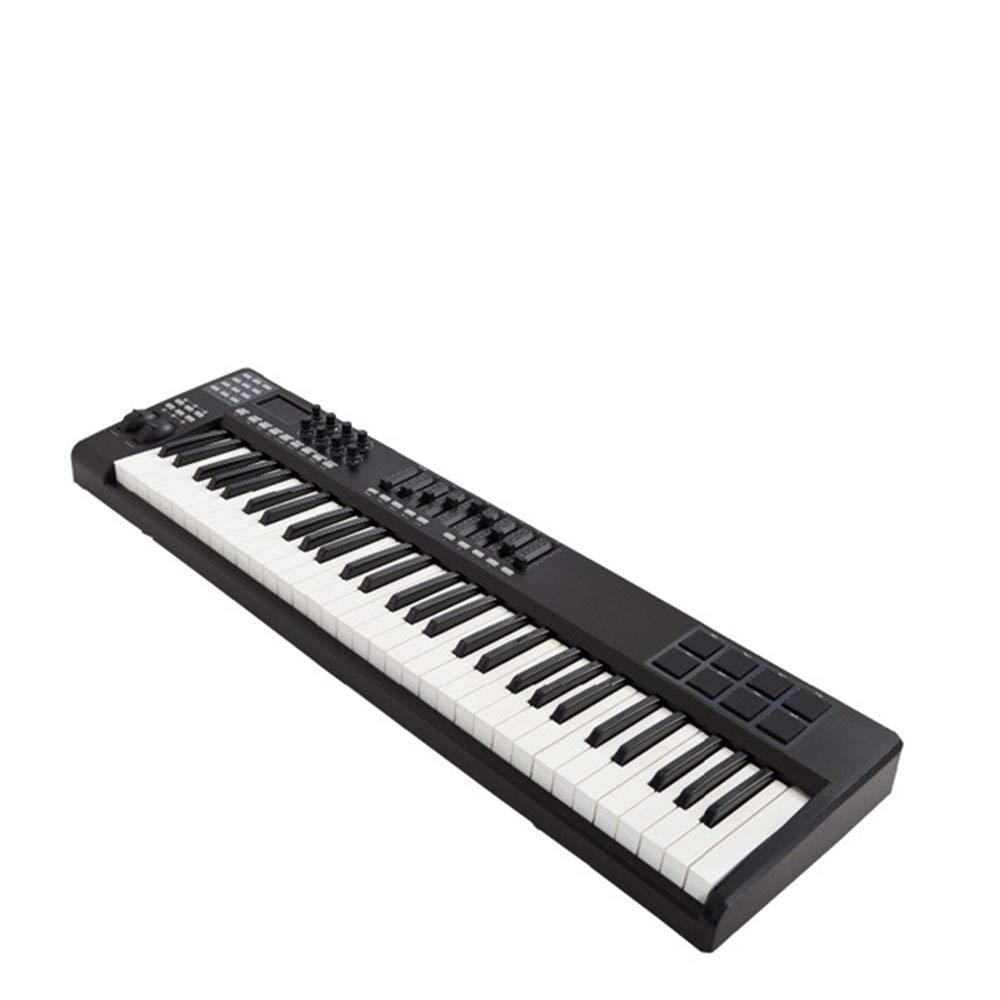 Controlador De Teclado MIDI Compacto De 61 Teclas Alimentado Por USB Con Control Asignable, Rueda De Modulación/Tono, Sintetizador MIDI USB Plug-And-Play: ...