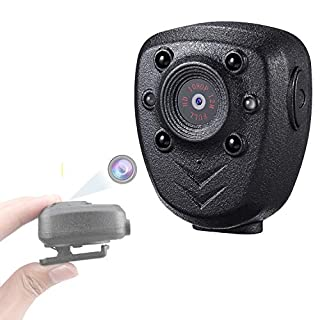 Mini Body Worn Camera Pocket Wireless Small Police Video Recorder Indoor/Outdoor Wearable Mounted Camera, Tiny HD Cop Cam DVR ,1080P , 32G Memory,Record Video & Audio ,Night Vision, 5HR Battery Life