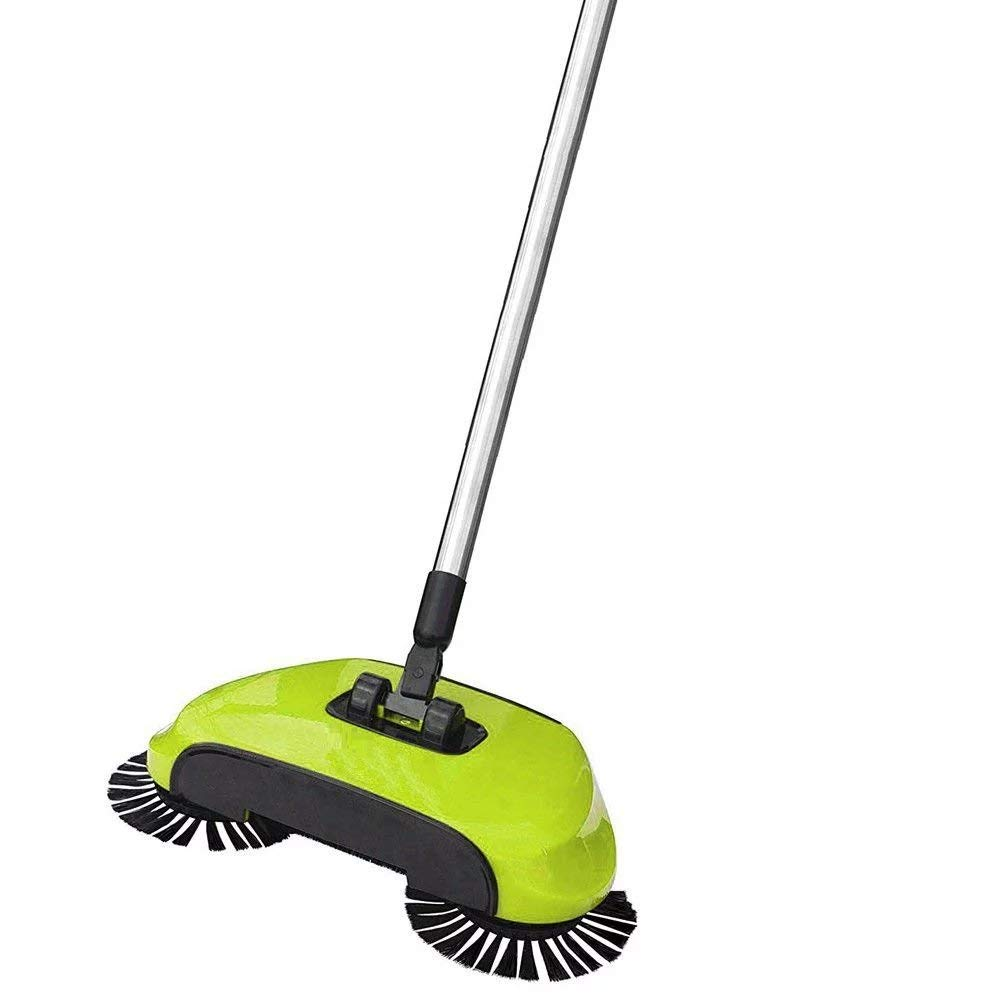 Spin Broom/Sweeper, As Seen on TV.Lightweight Cordless Spinning Broom for Sweeping Hard Surfaces Like Wood, Tiles and Concrete. 3-in-1 Non-Electricity Lazy Push Dust Collector. (Assort Colors) by Tidy Monster