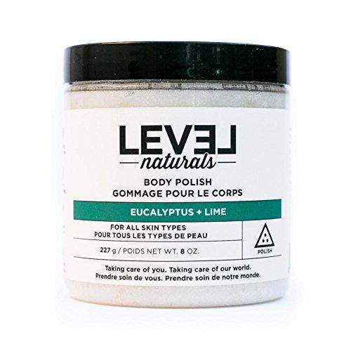 Level Naturals Body Polish Scrub 8 Oz (Eucalyptus + Lime) -