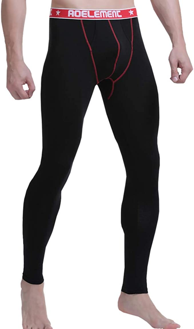Men/'s See-through Long Johns Pants Tights Stretchy Underwear Sport Yoga Trousers