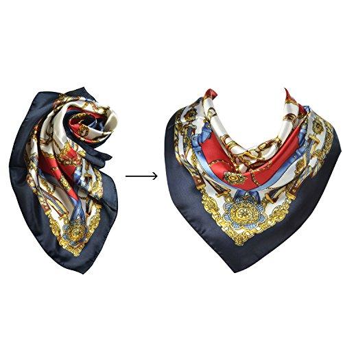 Ginasy Silk Infinity Scarf Multifunctional
