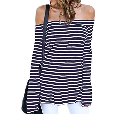 ZJCT Womens Shoulder Striped Juniors product image