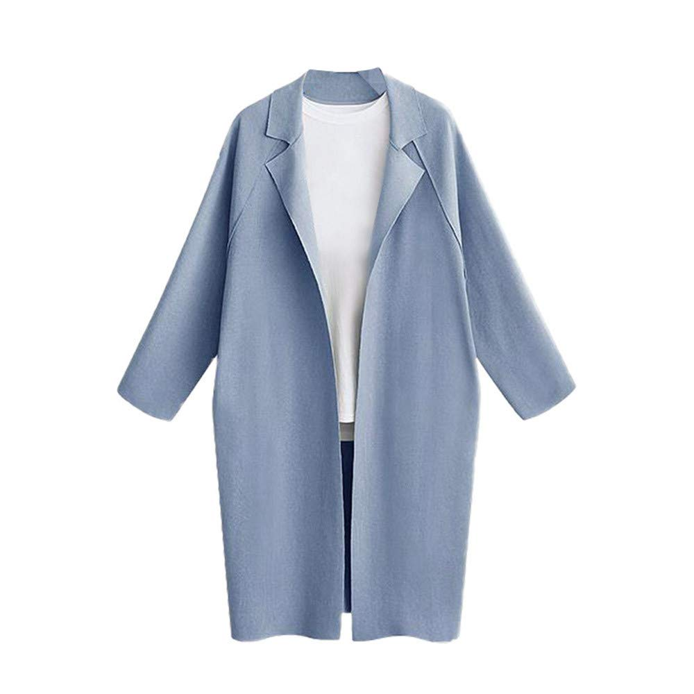 Sunyoyo Cardigans for Women Lightweight Big Pocket Waterfall Midi Long Oversized Coats Parka UK Size 10 12 14 16 18 for Lady 🌺 🌺 Sunyoyo Hot Sell+Clearance Sale