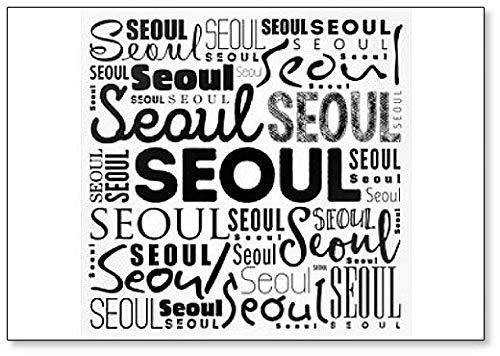 Seoul Wallpaper Word Cloud Illustration Fridge Magnet