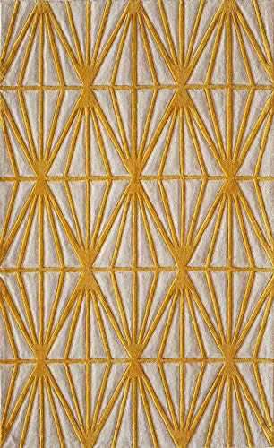 Momeni Rugs BLISSBS-13GLD2030 Bliss Collection, Hand Carved & Tufted Contemporary Area Rug, 2