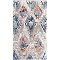 Safavieh Bristol Collection BTL356P Lavender and Light Grey Contemporary Distressed Area Rug (3 x 5)