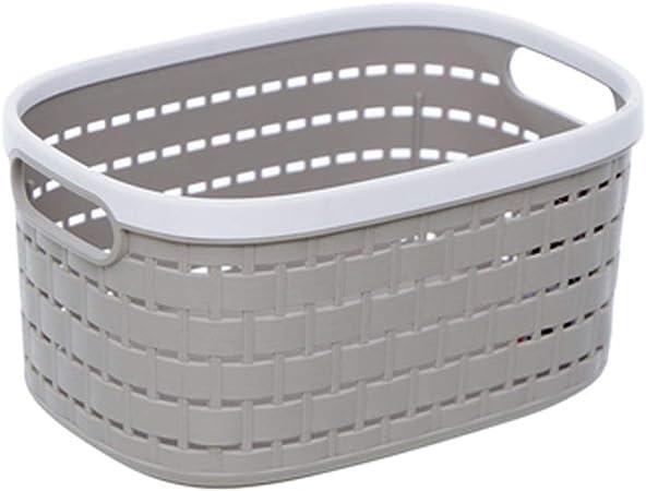 CZLSD Caja de Almacenamiento Rectangular Estante de plástico Tejido Canasta de Almacenamiento Leche Ropa Blanca Caja de Almacenamiento para Cocina, Sala de Estar, Oficina, baño, Dormitorio: Amazon.es: Hogar