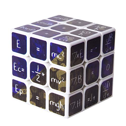 NSST Cube Cubes of Rubik Magic Cube Mathematical Chemistry 3x3x3 Amazing Halloween Monster Smooth Brain Smooth Speed Twisted 3D Puzzle Game,White -