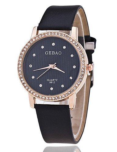 Xin & ZA Mujer Mode Reloj Quartz de Pulsera Relojes para uso diario PU banda flor